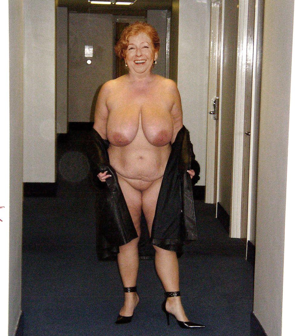 Saggy tits granny